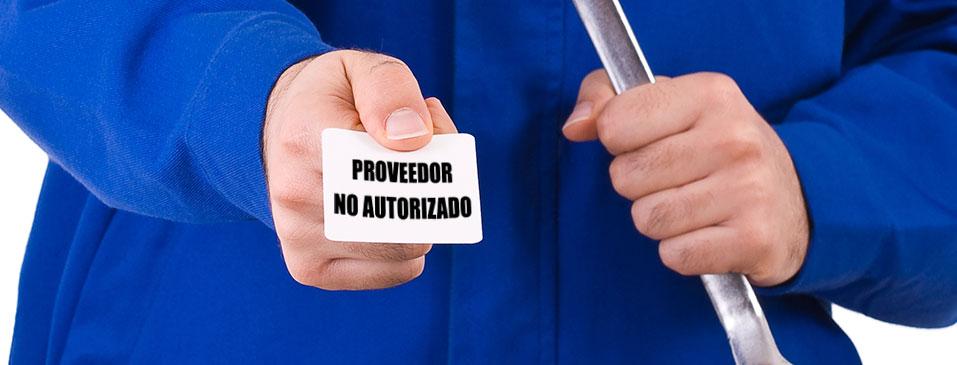 ¿Cómo afecta a mis equipos realizar un servicio con proveedores no autorizados?